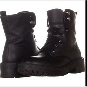 NEW Steve Madden vegan leather combat boots